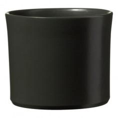 Кашпа- 20 см, антрацит, мат