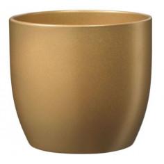 Кашпа - 14 см, златиста