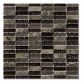 Imagén: Мозайка кафява, стъклена -  30х30 см