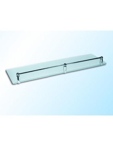 Стъклена полица с борд, матирана, 400х120х6 мм