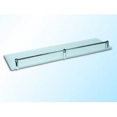 Стъклена полица с борд, матирана, 500х120х6 мм