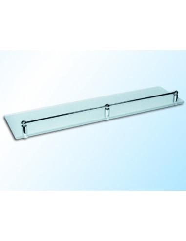 Стъклена полица с борд, матирана, 600х120х6 мм