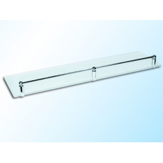 Imagén: Стъклена полица с борд, прозрачна, 600х120х6 мм