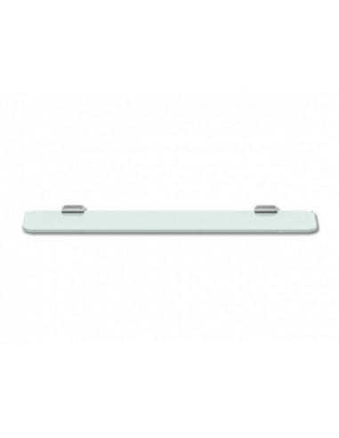 Стъклена стенна полица Lenz Aura, 60 см, хромирана