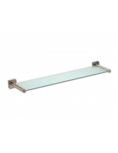 Стъклена стенна полица Lenz Sky, 60 см, никел мат