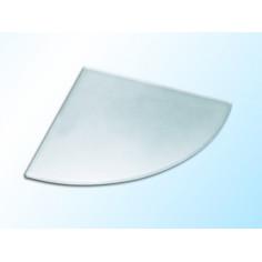 Ъглова стъклена полица, матирана