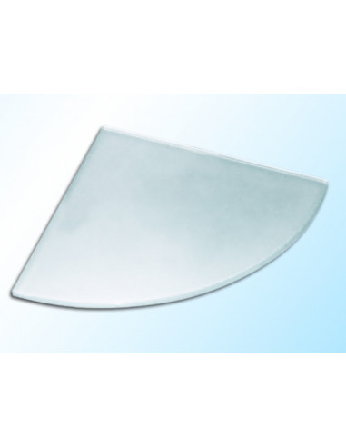 Ъглова стъклена полица, матирана, 250х250х6 мм