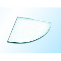 Ъглова стъклена полица, прозрачна