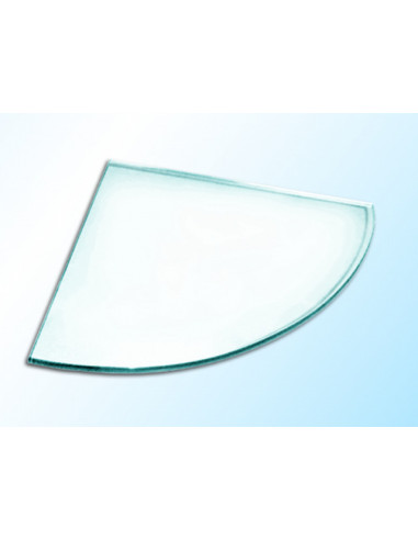 Ъглова стъклена полица, прозрачна, 250х250х6 мм