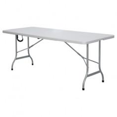 Бяла сгъваема къмпинг маса...