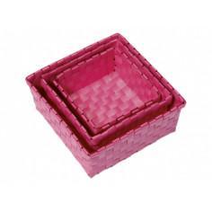 Imagén: Комплект PVC панери за баня Venus, три броя, розови