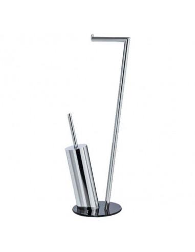 Комплект четка за тоалетна и поставка за хартия Pisa, стъклена основа, 70 см