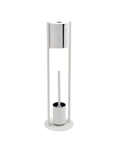 Комплект четка за тоалетна с поставка за хартия Bianco