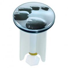 Дизайнерска тапа за умивалник Black Stones, 4 см