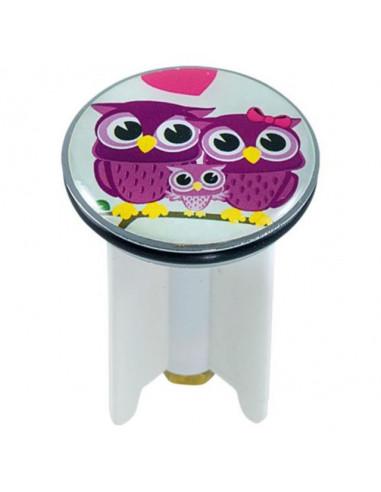 Дизайнерска тапа за умивалник Owls in Love, 4 см