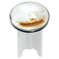 Дизайнерска тапа за умивалник White Pearl, 4 см