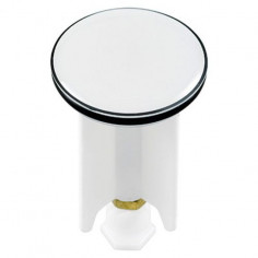 Дизайнерска тапа за умивалник White, 4 см, бяла