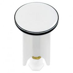 Дизайнерска тапа за умивалник White, 4 см, флуоресцентна