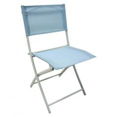Градински стол - метален, син