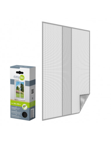 Комарна мрежа за врата, бяла, 110x210 см