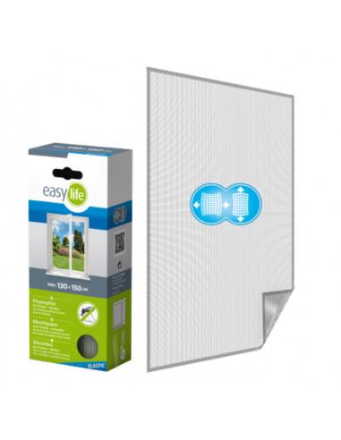 Комарна мрежа Elastic, бяла, 130x150 см