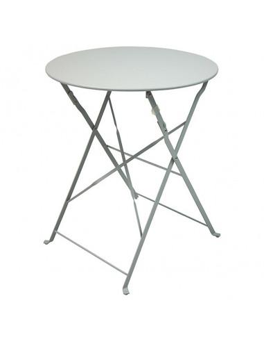 Сгъваема маса Kirsten, метална, сива, Ø60 см