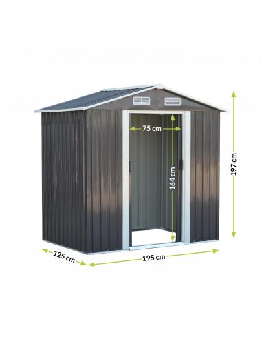 Метална градинска къща - 197x195x128 см