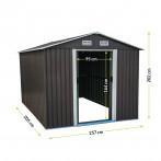 Метална градинска къща - 205x202x257 см