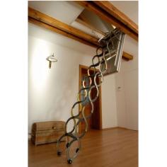 Imagén: Топлоизолирана метална стълба LUSSO ZP - 110 X 60 см, h-3.2м