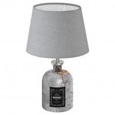 Настолна лампа 1хE27 бутилка сребро/сиво MOJADA