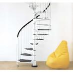 Метална вита стълба CIVIK, интериорна, диаметър - Ø: 120, 140, 160 см - бял цвят