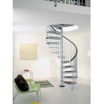Метална вита стълба CIVIK, интериорна, диаметър - Ø: 120, 140, 160 см - сив цвят