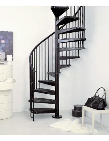 Метална вита стълба CIVIK, интериорна, диаметър - Ø: 120, 140, 160 см - черен цвят