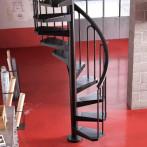Черна метална вита стълба CIVIK, интериорна, диаметър - Ø: 100, 110, 120, 130 см