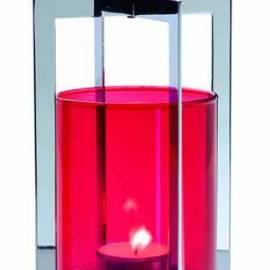 Свещник Лампион - червен