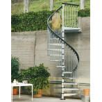 Външна вита стълба CIVIK ZINK, метална, цинково покритие
