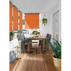 Imagén: Вертикална тента за тераса - 1,4 x 2,5 м, с манивела, оранжева