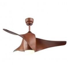 LED вентилатор таванен - 18 W, 140 см, дървесен декор, с дистанционно