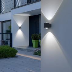 Външен аплик LED - 10 W, 12x9x10,5 cм, антрацит