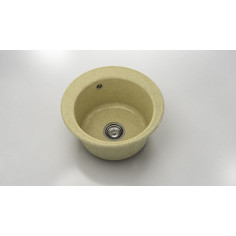 Imagén: Кухненска мивка ФАТ Cocoa Cream 22087900 - Граниксит, Ø49 см