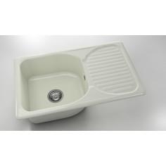 Imagén: Кухненска мивка ФАТ Полярен гранит 2150200 - Полимермрамор, 80х49 см, реверсивна (обръщаема)