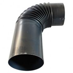 Коляно за кюнец, Ø150 мм, 90°, с удължение, черен