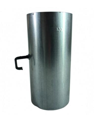 Алуминизиран кюнец за печка, Ø120 мм, 250 мм, с клапа