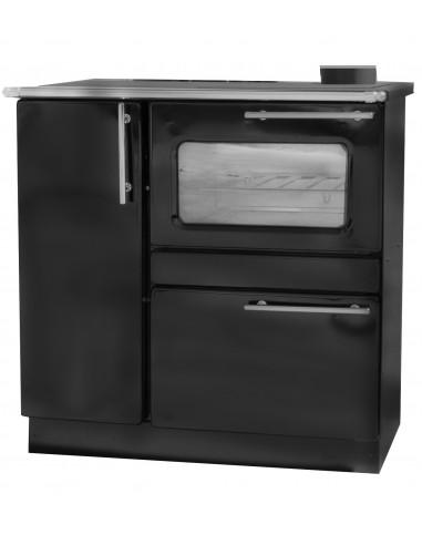 Готварска печка Пламък 15 kw черна - с водна риза