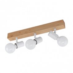 LED спот - 3х60 W, Е27, бял, кафяв