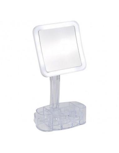 Козметично огледало с LED осветление Bella, 10х увеличение