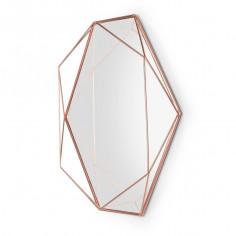 "Огледало за стена ""PRISMA"" - цвят мед - umbra"