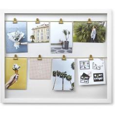 """Колаж за снимки """"CLIPLINE"""" - цвят бял - UMBRA"""