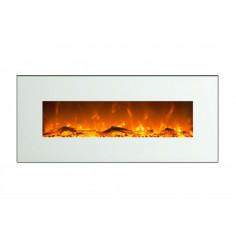 Електрическа камина - стенна бяла 550х1280х140 мм