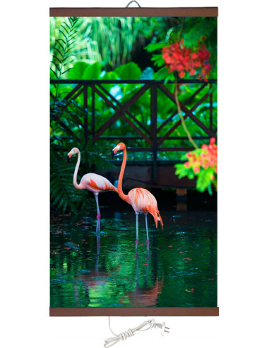 Инфрачервен нагревател - 450W, тип картина Розово фламинго